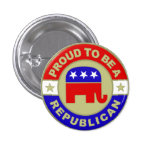 Botón republicano orgulloso pin