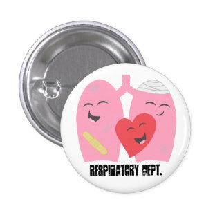 Botón respiratorio RT de Dept. Lungs de la terapia Pins
