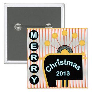 Botón retro 02 del navidad pins