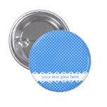 Botón retro blanco azul del personalizado de los p pins