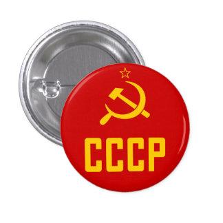 Botón retro de CCCP URSS Unión Soviética Pin Redondo De 1 Pulgada