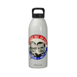 Botón retro de la elección de Goldwater Miller del Botallas De Agua