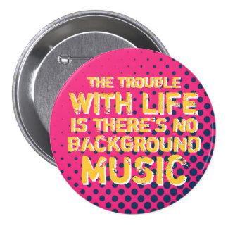 Botón retro de la música del amor del tono medio I Pin