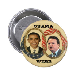 Botón retro de Obama/de Webb Pin Redondo De 2 Pulgadas