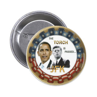 Botón retro de Obama/JFK Pin Redondo De 2 Pulgadas
