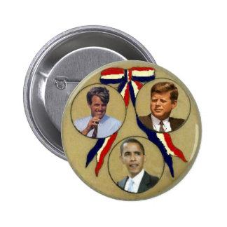 Botón retro de Obama/JFK/RFK Trigate Pin