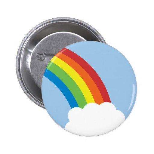 botón retro del arco iris de los años 80 pin