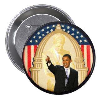 Botón retro del estilo de OBama/JFK Pin Redondo De 3 Pulgadas
