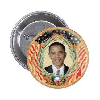 Botón retro del estilo de Obama
