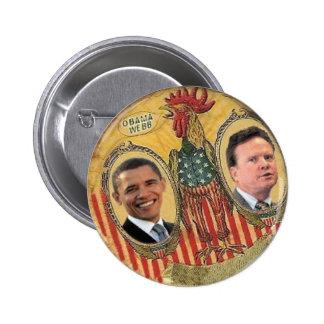 Botón retro del gallo de Obama Webb Pin Redondo De 2 Pulgadas