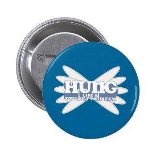 Botón retro del péndulo de Foucault Pin Redondo De 2 Pulgadas