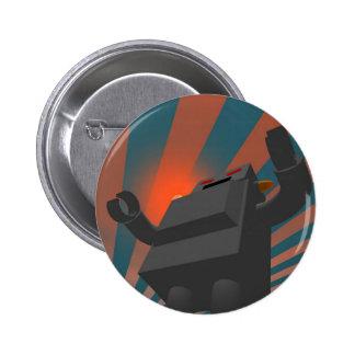 Botón retro del robot 4 del estilo