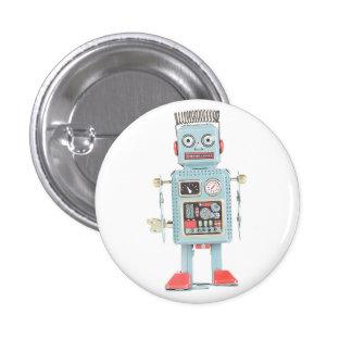 Botón retro del robot del juguete