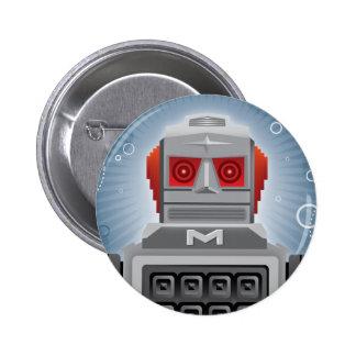 Botón retro del robot pin