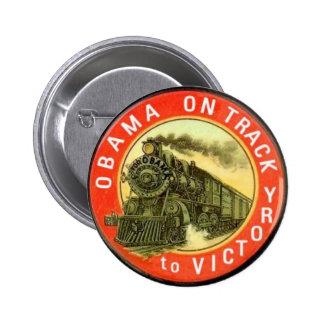Botón retro del tren de Obama