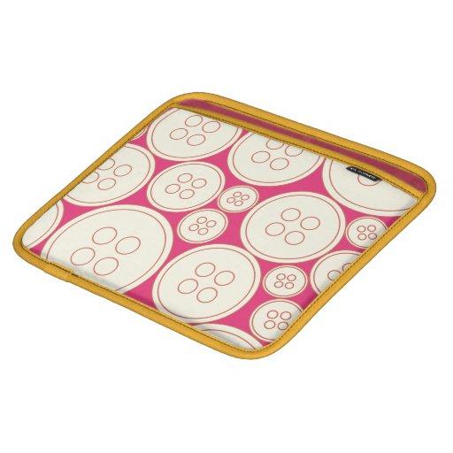 botón retro lindo mangas de iPad