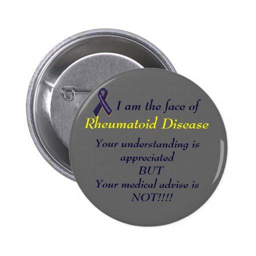 Botón reumatoide de la enfermedad pins