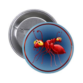 Botón rojo de dos hormigas pins