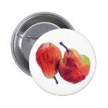Botón rojo de dos peras pin