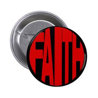Botón rojo de la fe pin
