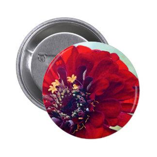 """Botón rojo de la flor (2,5"""")"""