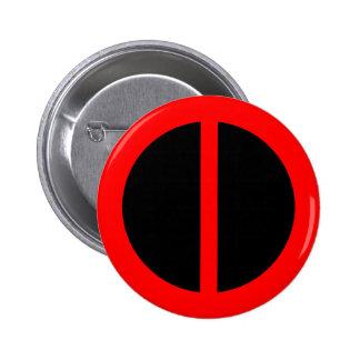 Botón rojo de la igualdad pin redondo de 2 pulgadas