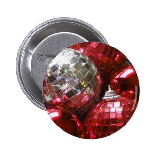 Botón rojo de las chucherías pin redondo de 2 pulgadas