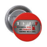 Botón rojo de viernes pin