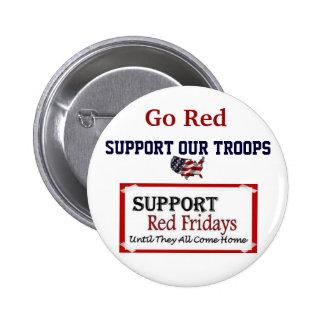Botón rojo de viernes pin redondo de 2 pulgadas