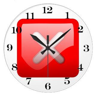 Botón rojo de X Relojes