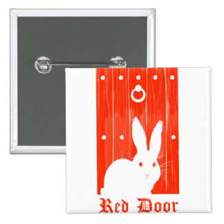 Botón rojo del conejito de la puerta pin