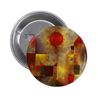 Botón rojo del globo de Paul Klee Pins