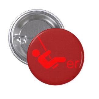 Botón rojo del libertino pin redondo de 1 pulgada