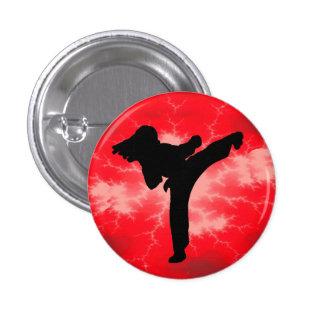 Botón rojo del relámpago pin redondo de 1 pulgada