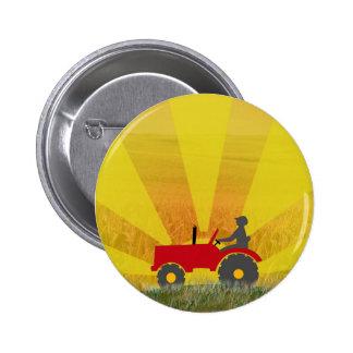 Botón rojo o verde del tractor pins