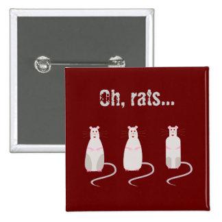 Botón Rojo-Observado de las ratas Pin