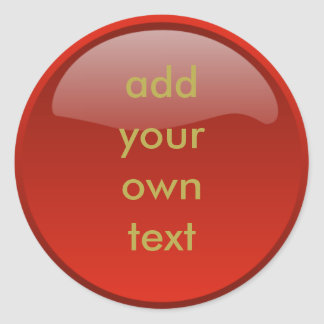 botón rojo oscuro pegatina redonda