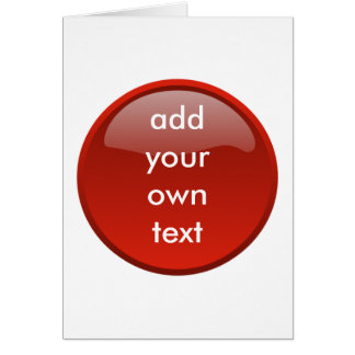 botón rojo oscuro tarjeta de felicitación