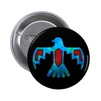 Botón rojo y azul de Thunderbird Pins