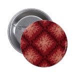 Botón rojo y de color de malva del vintage del mod pins