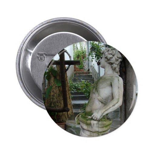 Botón romántico del personalizado de Italia Pin