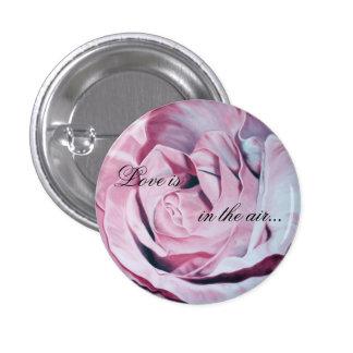 Botón romántico del rosa color de rosa del aire de pins