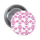 Botón rosado barroco pin