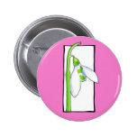 Botón rosado blanco de Snowdrop Pin