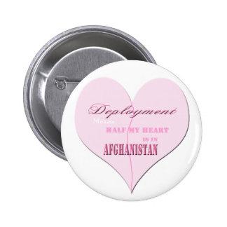 Botón rosado de Afganistán del despliegue del cora Pins