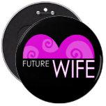 "Botón rosado de Bachelorette de la ""futura esposa"" Pins"