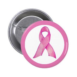 Botón rosado de la cinta pin