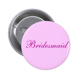 Botón rosado de la dama de honor pins