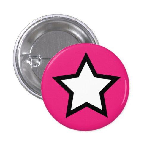 Botón rosado de la estrella pin
