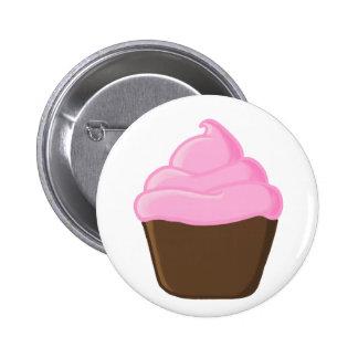 Botón rosado de la magdalena pins